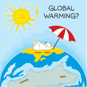 Global warming effects on animals.